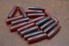 "50 PCS RED BUFFALO HORN TUBE HAIR PIPE CHOKER BEADS 1"" #BD-67"