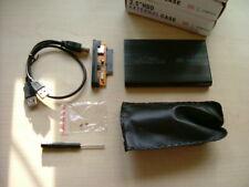 "2 x 2.5"" Hard Drive External Enclosure USB 2.0 SATA SSD HDD Mobile Disk Case Box"