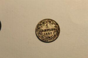 BAVARIA 1 KREUZER LUDWIG 1 1867 SILVER KM 873