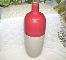 Decorative Stoneware Bottle Burgundy and Gray