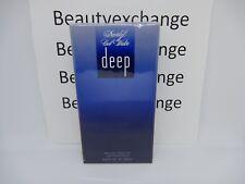 Davidoff Cool Water Deep For Men Cologne Eau De Toilette Spray 3.4 oz Sealed Box