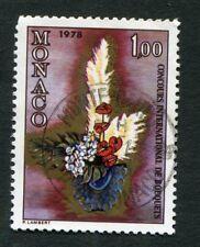 Timbre oblitéré MONACO YT n° 1116 - Concours de Bouquets de Fleurs - 1977