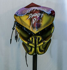 predator motorcycle helmet ship immediate light up insignia's and dreads ironman