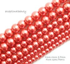 10mm Glass Beads Pearls BULK Wholesale Assorted Lot 340 pieces