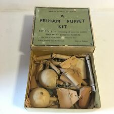 """Vintage Boxed """"A Pelham Puppet Kit"""" Kit No 1 For Two Fully Jointed Puppets Boxed"""