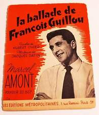 Partition vintage sheet music MARCEL AMONT : Ballade de François Guillou * 50's