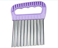 Stainless Steel Crinkle Cutters, Fruit And Vegetable Wavy Chopper Knife, Potato
