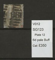GB Queen Victoria Surface Printed SG123 Plate 12
