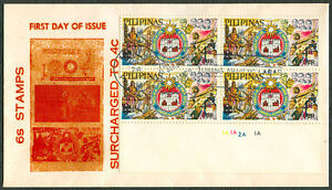 Philippines 6s STAMPS SURCHARGED TO 4c First Day Cover