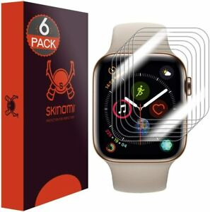 Skinomi Apple Watch Series 4 Screen Protector (44mm)(Edge to Edge)(6-Pack), Tech