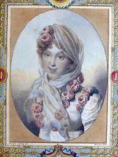 Gravure couleur Mécou / Isabey - Portrait Marie-Louise d'Autriche 1812 NAPOLÉON