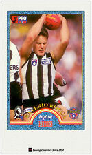 1996 Tip Top Hyfibe AFL Heroes Card #33 Saverio Rocca (Collingwood)