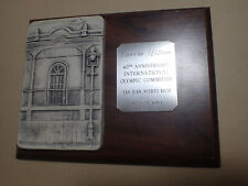 VERY RARE STATUE / TROPHY IOC SESSION HOTEL 1989 + AFRICAN OLYMPIC ASSOCIATION