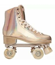 Impala Quad Roller Skates Marawa Rose Gold Holographic Size 6 *New* In Hand*