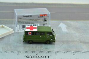 # 18752 green BREKINA HO MB 190 Ambulance /'ASB/'
