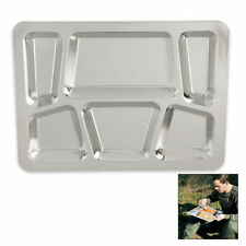 Military Surplus Stainless Steel Dining Tray Cooking Camping Hiking BBQ Picnic