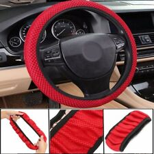 New Universal 38cm Car Steering Wheel Cover Elastic Ice Silk Summer Cool Red