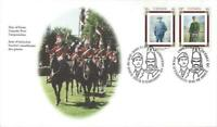 2000 Canada #1876 - 77 📭🛡 CANADIAN REGIMENTS 🐎 First Day Cover 🛡📬