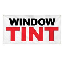Vinyl Banner Multiple Sizes Window Tint Black Red Auto Car Repair Shop Outdoor