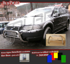 VOLVO XC70 2000-2007 LOW BULL BAR WITHOUT AXLE BARS +GRATIS! STAINLESS STEEL!
