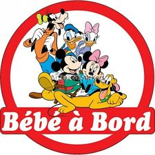 Decal Sticker vehicle car Baby à bord Mickey and its friends 16x16cm ref 3572