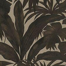 Versace Negro Y Oro Hoja De Palmera Wallpaper Extra Ancho pega la pared 96240-1