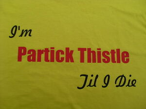Partick Thistle T-Shirt Inc 4XL & 5XL Personalised Birthday Christmas Gift
