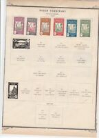 niger territory  stamps on album page ref r11497