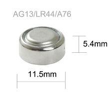 20Pcs LR44 A76 L1154 AG13 357 SR44 303 1.5V Alkaline Coin Button Cell Battery