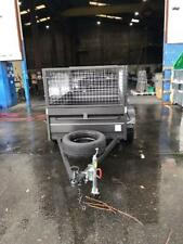 6x4high side box with trailer,600mm cage,spare wheel,jockey wheel and,1year rego