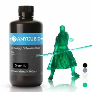 ANYCUBIC 3D Printer UV (Photopolymer) Resin Universal 405nm - 500mL and 1L