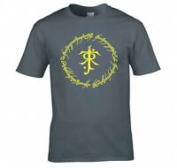 "LORD OF THE RINGS/ THE HOBBIT ""TOLKIEN RING INSCRIPTIONS"" T SHIRT"