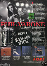 1993 Print Ad of Tama Drum Kit with Phil Varone of Saigon Kick