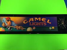 CAMEL LIGHTS COLLECTOR WALL CLOCK WITH POOL TABLE BATTERY OPERATED CLOCK NIB