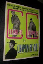 Original 1959 Charlie Chaplin Revue Inde 1 Sheet 29 3/4 X 39 3/4