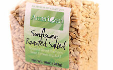 10 Oz Gourmet Style Bag of Roasted Salted Hulled Sun Flower Seeds [5/8 lb.]