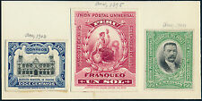 PERU #134P3 & #137P3 W/ (3) DIFF REVENUE ABNCo XF-S PLATE PROOFS ON INDIA BQ3927