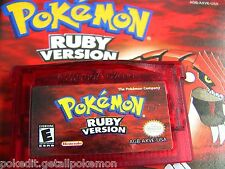 PokEdit Ruby Used Pokemon Nintendo DS GBA All 386 Shiny Cartridge Edit