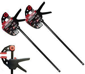 "Dekton 2pc Quick Grip Speed Ratchet Vice Bar Clamps 600mm Rapid Clamp Set 24"""