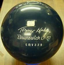 = 16# 2oz OLDIE BrunswickUSA TOMMY HUDSON LT-51 Blue POLYESTER Bowling Ball