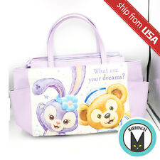Japan Tokyo Disney Sea Limited Duffy friend Stella Lou Tote Bag Purse PU Leather