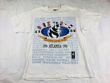 NWOT Vintage Atlanta 1996 Centennial Olympic Games T-Shirt White L USA Hanes