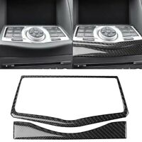 Set of Carbon Fiber GPS Navigation Frame Trim Cover Sticker For 370Z Z34 2009+