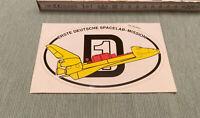 Aufkleber D1 Erste Deutsche Spacelab - Mission Herbst 1985 Autocollant