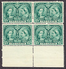 CANADA 1897 SCOTT 52 - QUEEN VICTORIA JUBILEE ISSUE 2¢ GREEN - PBK4  - MNH **