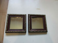 """Vintage Cherry Ornate Mirror Set of Two Square 7"""" x 7"""" Home & Garden Party"""