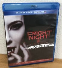 FRIGHT NIGHT 2: NEW BLOOD (Blu-Ray/DVD, 2013) UNRATED 2-Disc Set REGION A