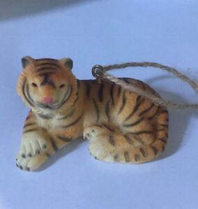 Tiger Porcelain Christmas Ornament