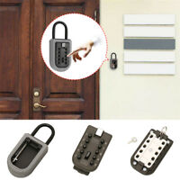 Outdoor Key Safe Box Combination Keys Holder Lock Wall Mounted Home Security