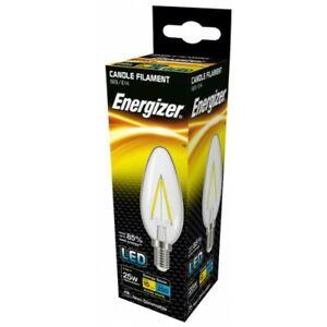 Energizer 2.4W = 25W LED Candle Filament Light Bulb Small Edison Screw SES E14